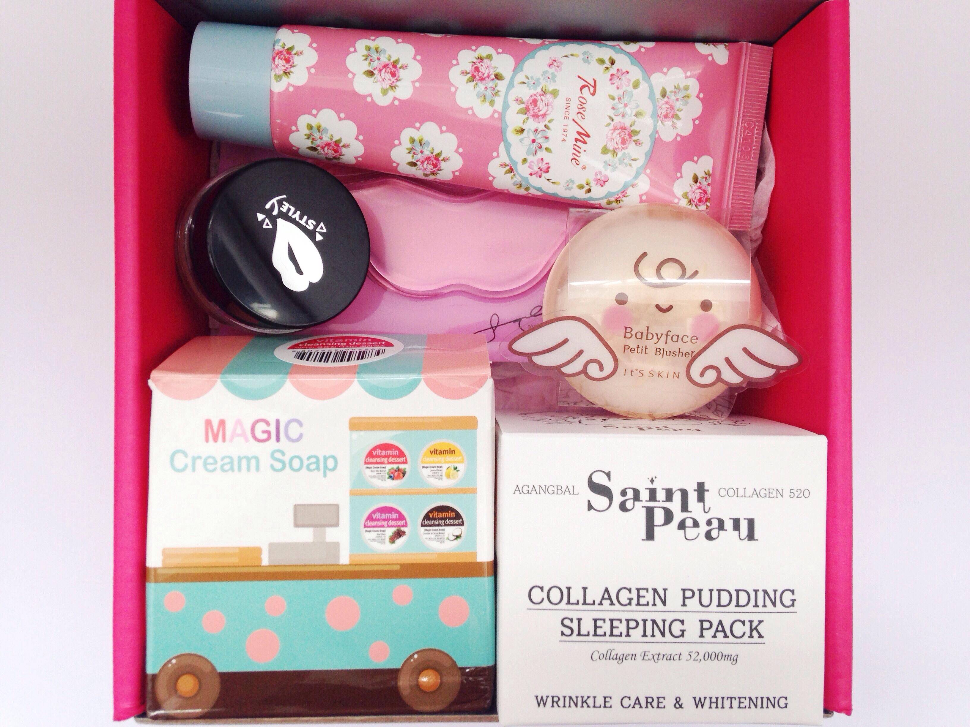 Memebox unboxing Korean beauty Soap Lotion Sleeping Pack